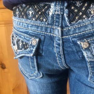 Girls Miss Me Bermuda Jean Shorts